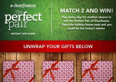 Online Promotion: Dearfoam Perfect Pair – Instant Win