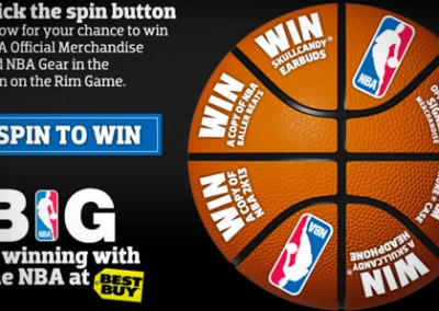 Online Promotion: NBA Spin On The Rim – Instant Win
