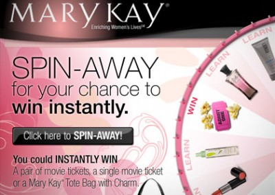 Online Promotion: Marykay Spin Away – Instant Win