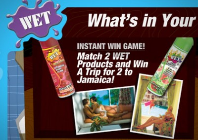 Online Promotion: Wet: Get Wet to Win – Instant Win