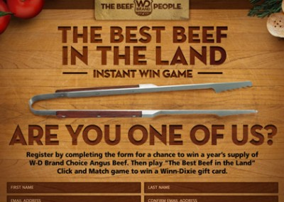Online Promotion: WinnDixie Beefpeople – Instant Win