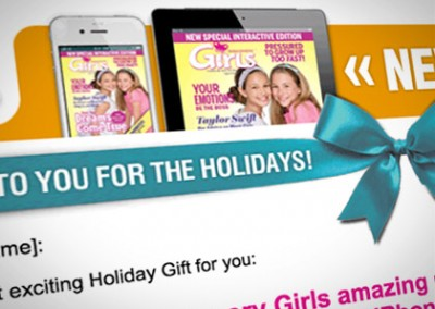 Email Design and Microsite Design: Discovery Girl