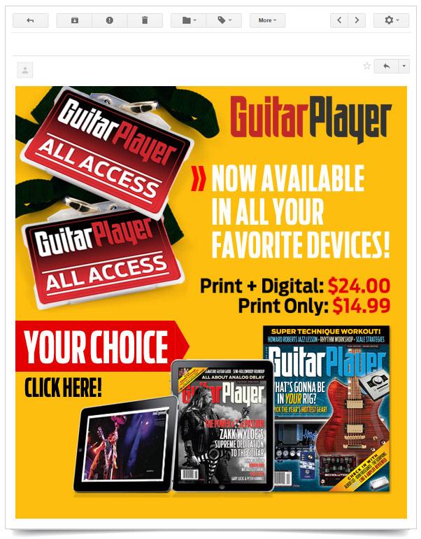 Email And Banner Design Guitar Player Chiaravalli Design