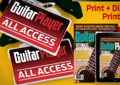 Email and Banner Design: Guitar Player