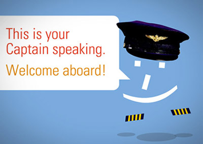 Online Promotion: Boeing Captain Emoticon